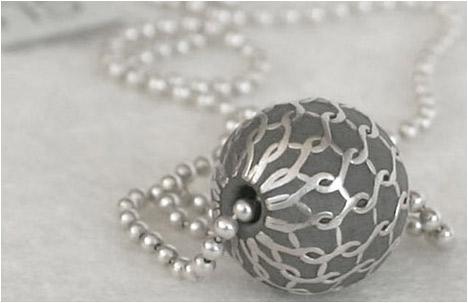 Modern XXS Concrete & Silver Pendant Necklace