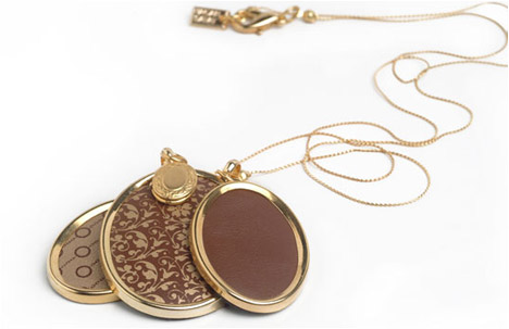 Romantic 24k Gold Plated Triple Oval Pendant Necklace