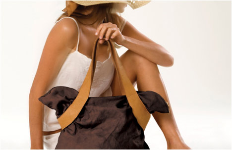 Brown Cuckoo Fabric & Leather Everyday Bag
