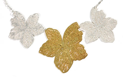 Triple Leaf Necklace