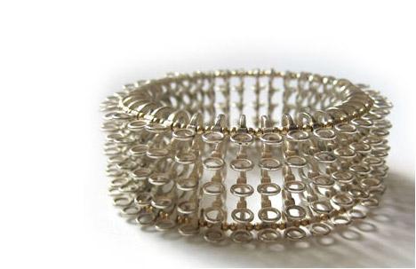 Bracelet: Silver, gold