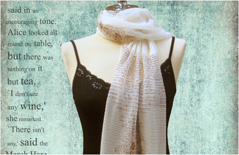 Down the rabbit hole scarf