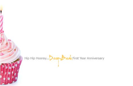 DesignBreak's 1st Blogiversary