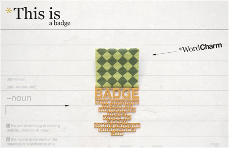 Word charm Collection | Badge