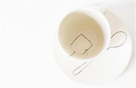 Teabag Mug And Teaspoon Plate