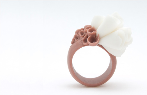 Napa Valley Porcelain Coral Brown Ring