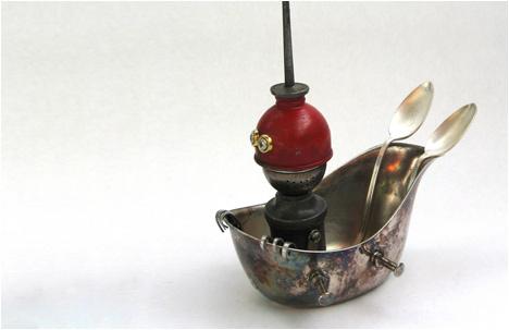 Pew | Found Object Sledding Robot