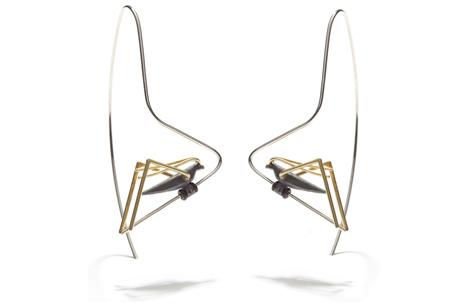 Grasshopper Long Earrings