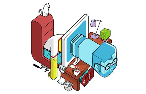An illustration by Eran Mendel