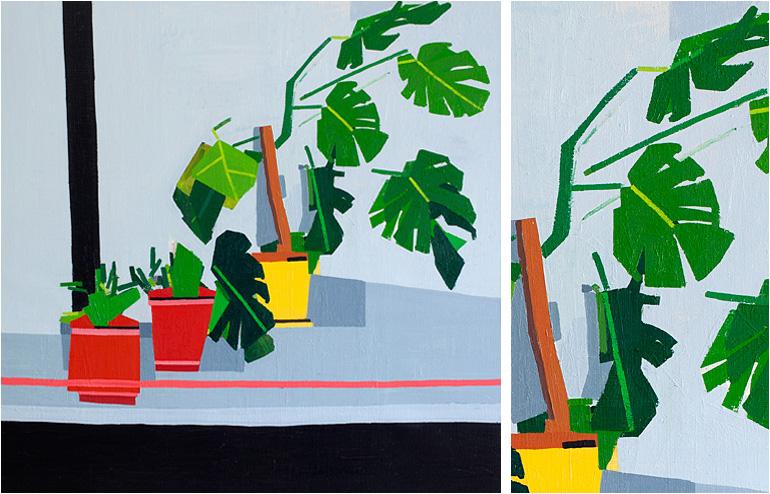 Guy Yanai's plants oil paintings. // via: Design Break
