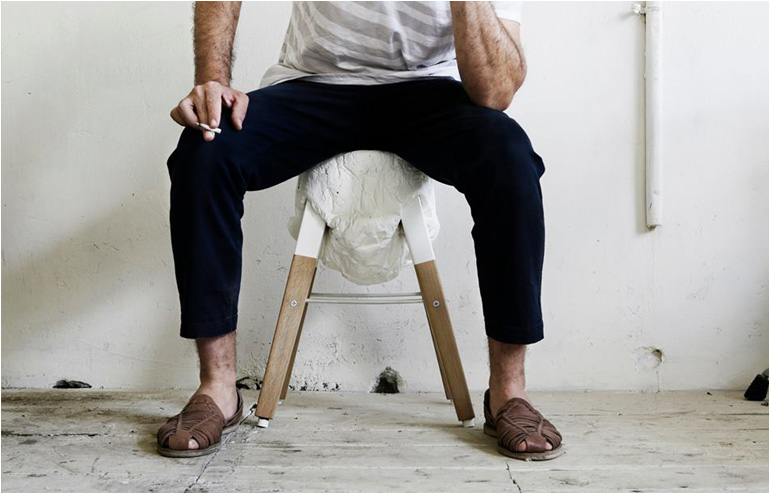 Mishmaacool(aka Ohad Benit) andTag.me.not(aka Atar Brosh) and together they created the50% Control Stool. // via: Design Break