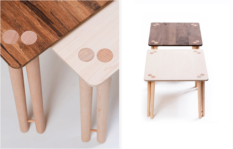 Coconut and Han. Wooden table lamps by Nir Meiri. // via: Design Break