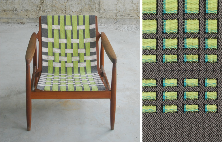 Webbings, upholstery fabrics by Roni Yeheskel. Inspired by theBauhausand textile artist,Anni Albers. // via: Design Break