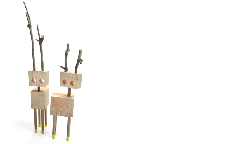 David Budzik's wooden creatures. // via: Design Break