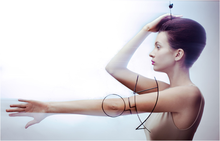"""In her""""Signs of Fiction"""",LiorS hulak marks, in her own unique way, the body itself and it's surroundings by creating a language of wearable signs. // via: Design Break"""