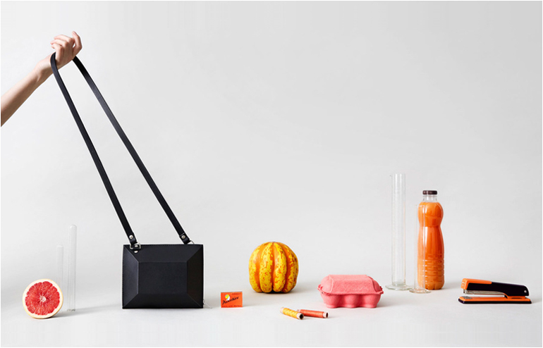 Bags as still life art. By Alpha Cruxis aka Rebecca Martin. // via: Design Break
