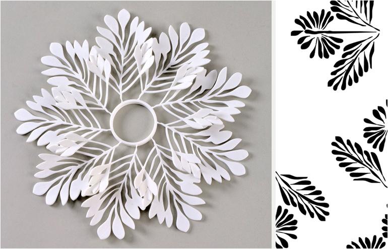 A Nabataean leaf pattern turned into a ceramic figure by Anat Negev. // via: Design Break