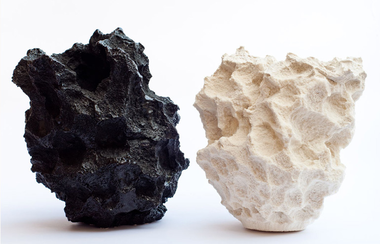 Else. Michal Fargo's sponge models turned into textured vessels. // via: Design Break