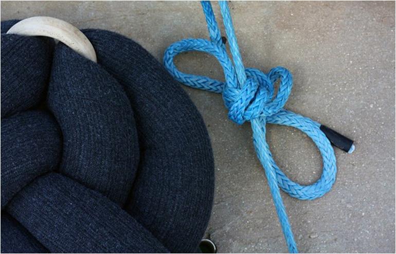 KNOT-N-KNOT knots. Neta Tesler's textile furniture. // via: Design Break
