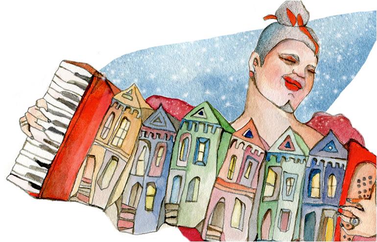 San Francisco, an Illustrated Journeyby illustrator,Shiri Ashkenazi // via: Design Break