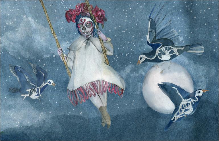 Dia de los Muertos.San Francisco, an Illustrated Journeyby illustrator,Shiri Ashkenazi // via: Design Break