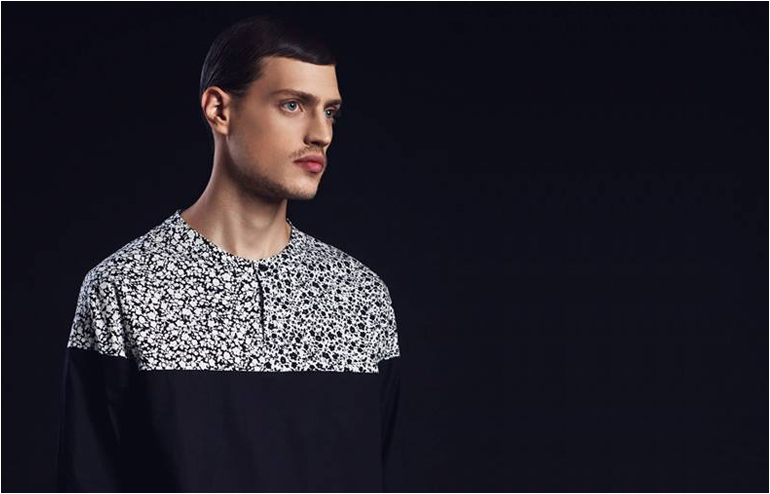 Black White & Pink. Minimal yet bold collection by the menswear designer, Eliran Nargassi. // via: Design Break