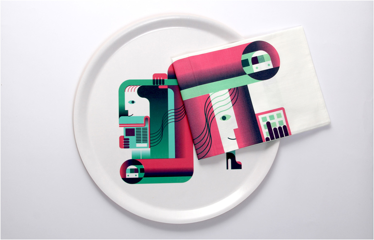 Rona Meyuchas, the Israeli power house behind Kukka, teamed up with the young British illustrator Will Haywood in order to create a world of bold graphics in the form of tube trays and tea towels. // via: Design Break