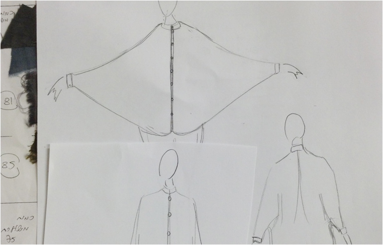 Noam Blumenthal's (aka Note Fashion) wings like shirt. // via: Design Break