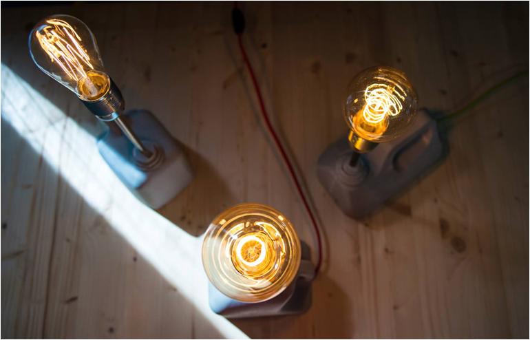 Alon Bitton's Jerry Can concrete lamps. // via: Design Break