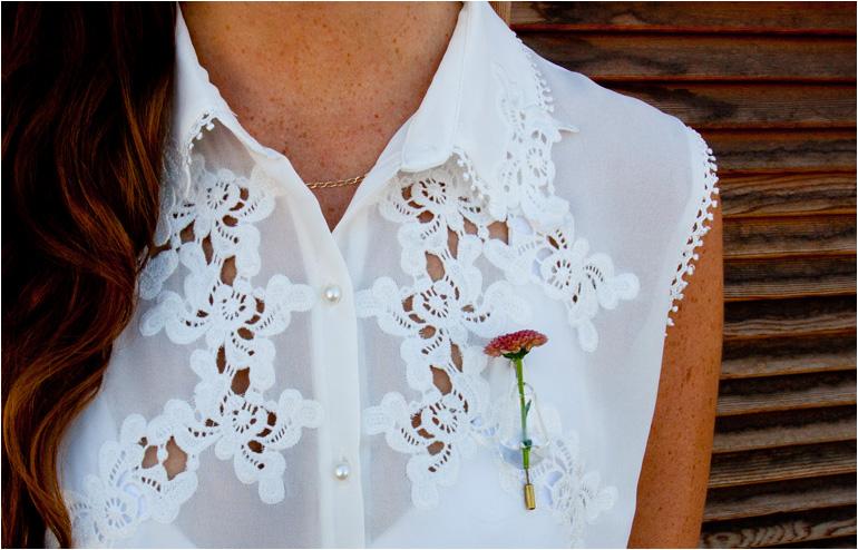 Omer Polak's lapel pin for a flower. // via: Design Break