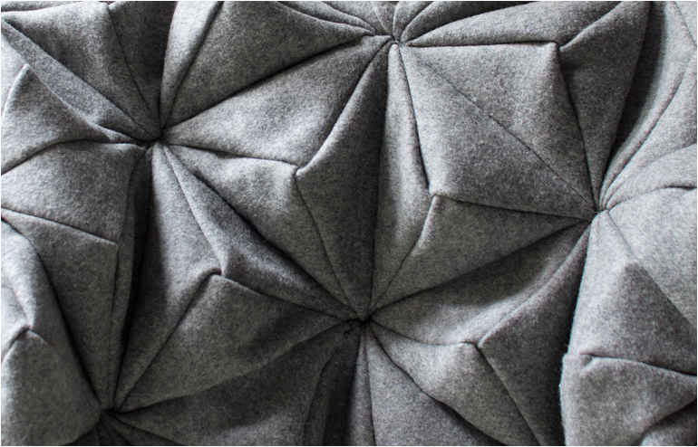 Bloom., Bianca Cheng Costanzo's cashmere wool blanket. // via: Design Break