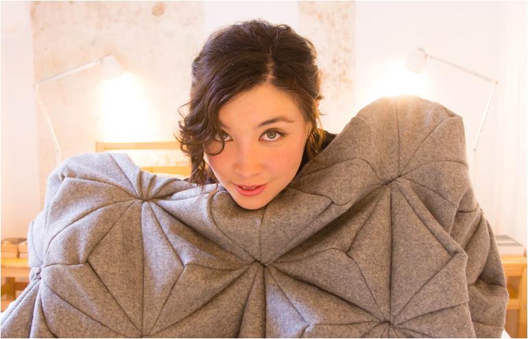 Bloom., Bianca Cheng Costanzo's cashmere wool blanket. // via: Design Break
