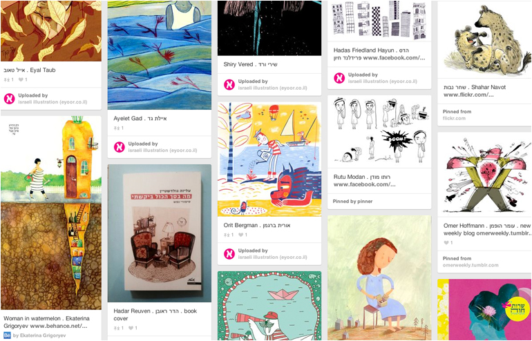 Pinterest is the place where I feel most at home. My favorite pinners, take 2. Israeli Illustration's account. // via: Design Break