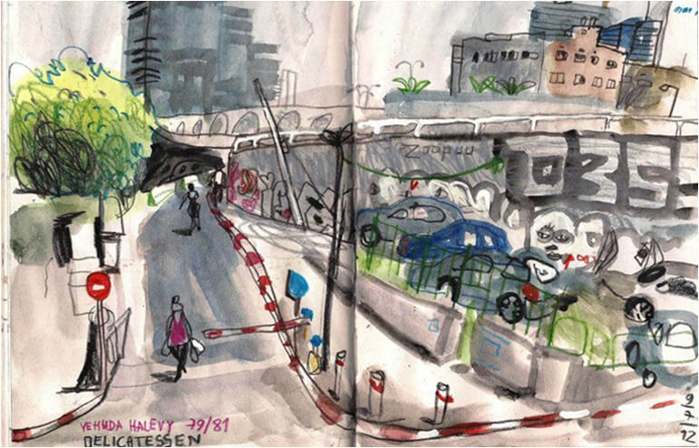 Same Spot, Different View. Urban Sketching in Tel Aviv | A Guest Post by Guy Granit