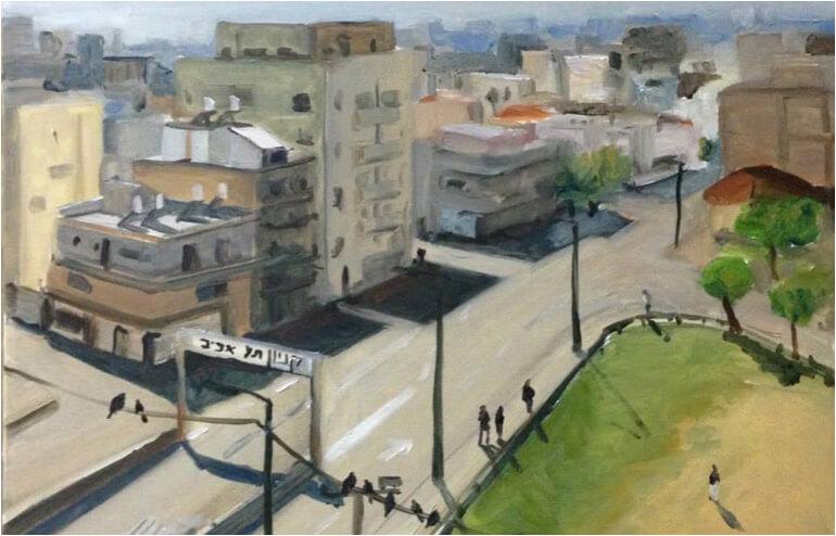 Urban Sketching in Tel Aviv. // An illustration by Dima Ichtchouk. // via: Design Break