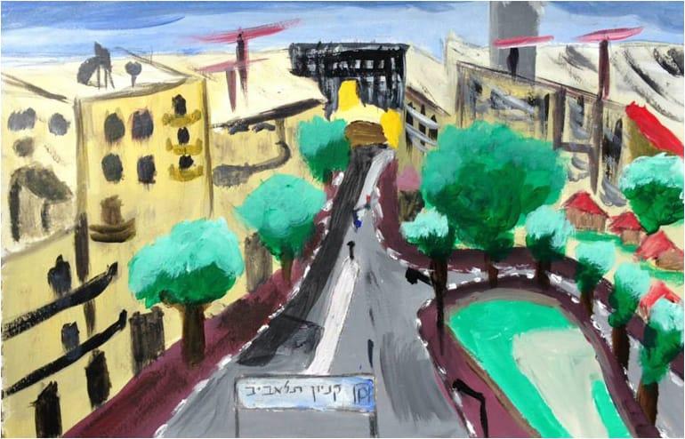 Urban Sketching in Tel Aviv. // An illustration by Miri Gluskinos. // via: Design Break