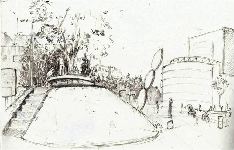 Urban Sketching in Tel Aviv. // An illustration by Mariana Raskin. // via: Design Break