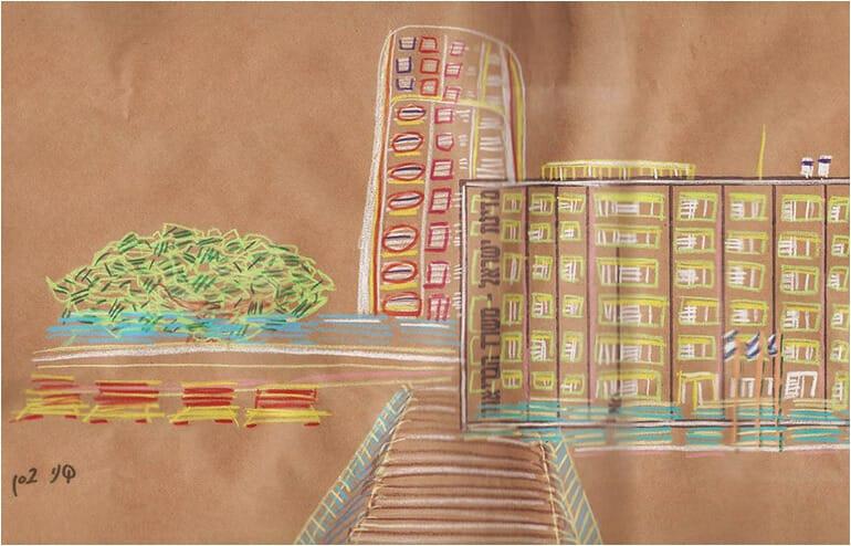 Urban Sketching in Tel Aviv. // An illustration by Shany Bassan // via: Design Break
