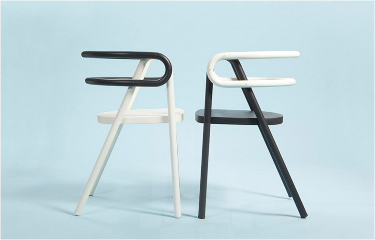 Chair Compositions,. A slick and minimalistic silhouette by Bakery Studio. // via: Design Break