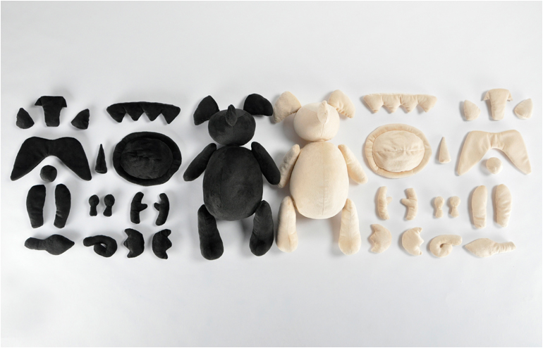 Mixed Animals. A plush dolls collection by BCXSY. // via: Design Break
