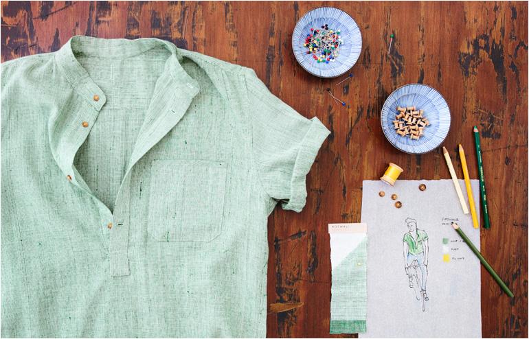 New Market Goods' popover shirts kickstarter campaign. // via: Design Break