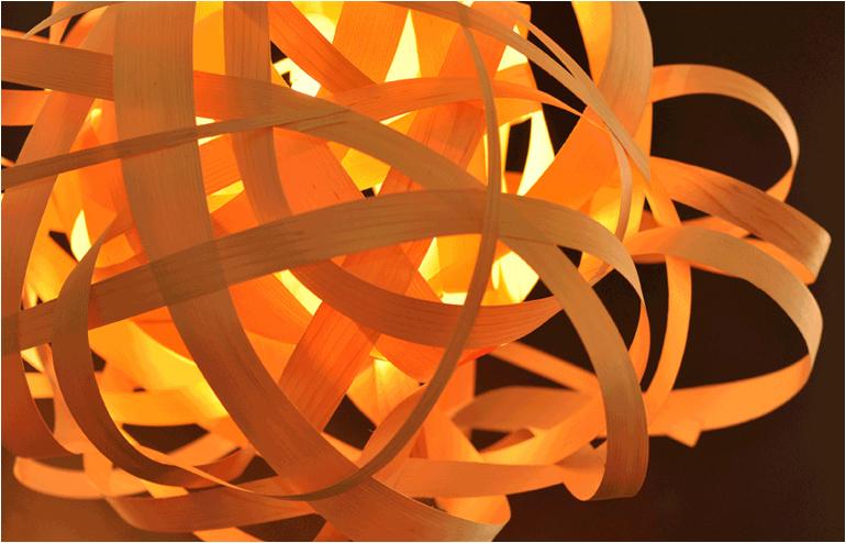 Veneer and paper never looked so enchanting and secretive. Light fixtures by Studio Vayehi. // via: Design Break
