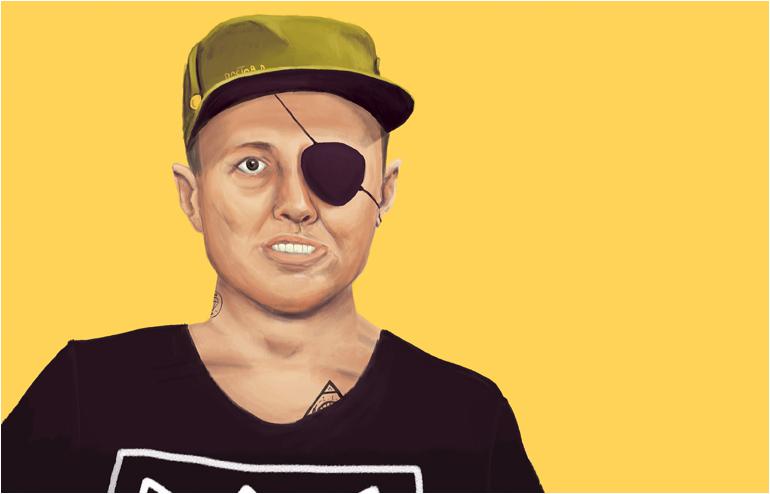 "Amit Shimoni's portrait series, ""Hipster Leaders"". // via: Design Break"