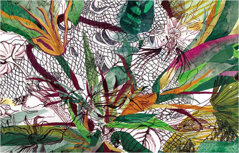 The Seven Scarves. A series of scarves illustrating the biblical story of Genesis by Hadas Friedland Hayun. // via: Design Break
