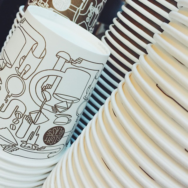 Have you ever fell in love with a to-go coffee cup? // cc: @sightglass // #MySanFranciscoBreak