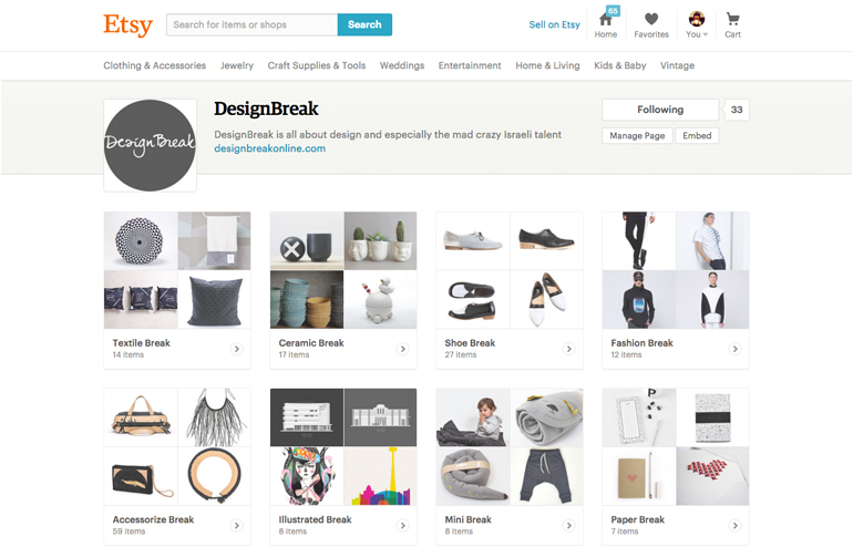 Say Hello To DesignBreak's Etsy Page!