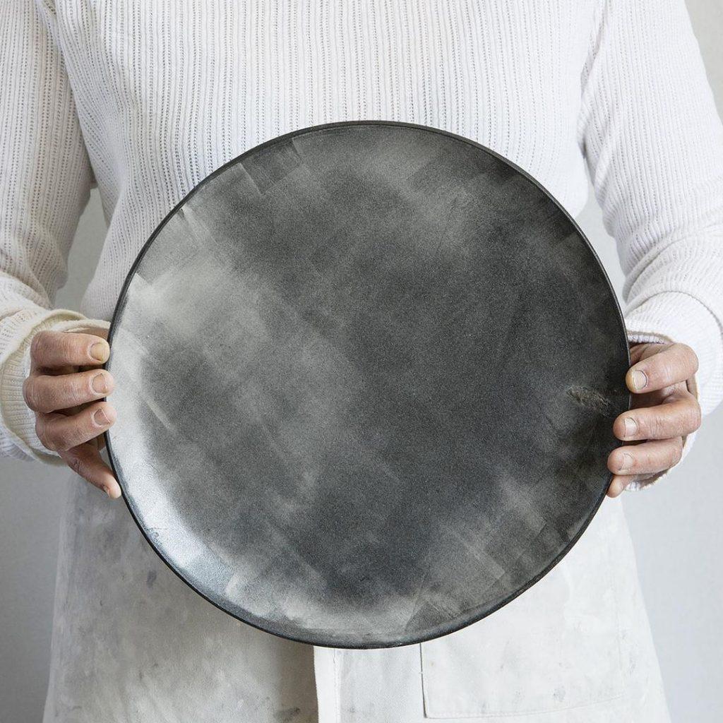1220 Ceramics Studio large ceramic serving plate
