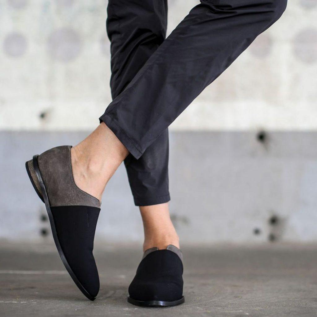 Abramey black leather shoes