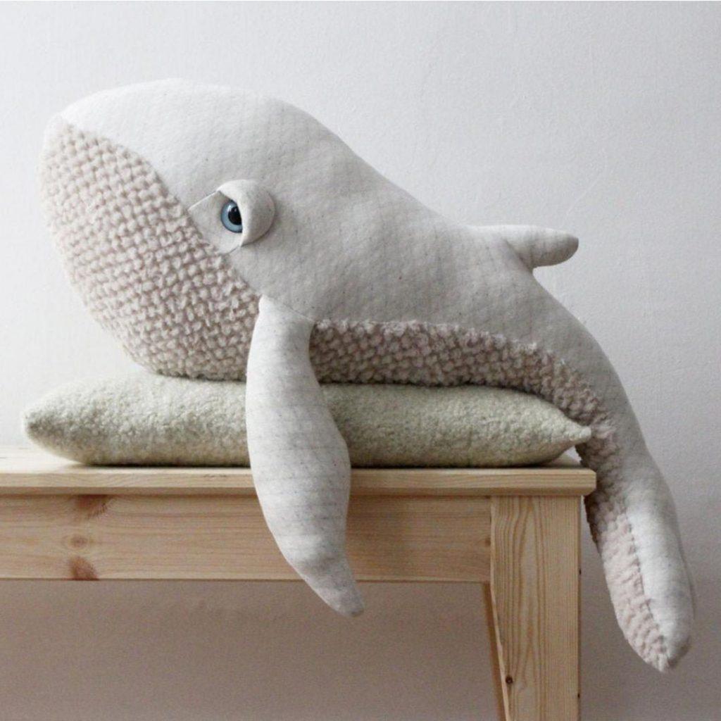 BigStuffed big albino whale
