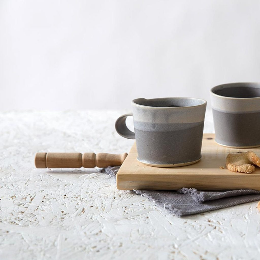Free Folding gray and lavender coffee cup